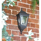 """Clifton"" Flush Wall Mounted Porch Light in Situ on a Garden Wall"