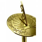 Polished Brass 'Torodover Park' Sundial and Stand Set - 254mm
