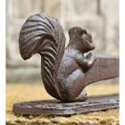 Close Up Of Squirrel On Rustic Boot Scraper