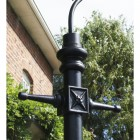 Copper Lincoln Swan Neck & Lamp Post 2.9m