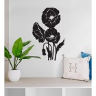 Cluster of Poppies Steel Wall Art in a Modern Home