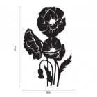 Cluster of Poppies Wall Art Dimensions