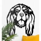 Cavalier King Charles Spaniel Wall Art in Situ on a White Wall