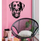 Labrador Wall Art in Situ on a Pink Wall