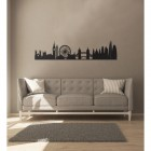 London Silhouette Wall Art Above the Sofa in the Living Room