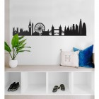 London Silhouette Wall Art in Situ on a White Wall