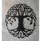 Tree of Life Wall Art on a Rustic Grey Wall