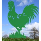 Green Rooster Silhouette