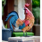 Hand Painted Cockerel Sculpture