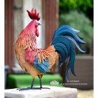 Cockerel Garden Sculpture in a Hand Painted Finish
