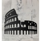 Rome Colosseum Wall Art on a Rustic Grey Wall
