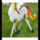 Multi-coloured Tail on the Unicorn
