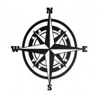 Compass Wall Art in a Rustic Finish