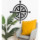 Compass Wall Art in Situ in the Sitting Room