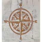 Compass Wall Art on a Rustic Grey Wall
