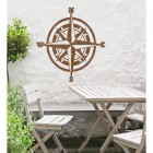 Compass  Wall Art in Use in the Garden
