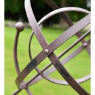 Close-up of the Rustic Finish on the Armillary