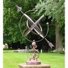 Concordia Armillary Wrought Iron Scroll Design in Situ in the Garden