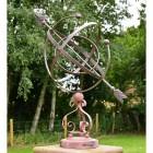 Wrought Iron Scroll Design Armillary Sundial