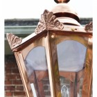 Close up detailed image of genuine copper hexagonal lantern