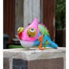Colourful Chameleon Garden Ornament in Situ in the Garden
