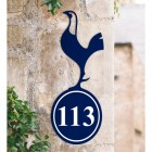 Contemporary Cockerel House Number Sign Created Out of Iron