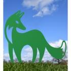 Green Contemporary Fox Silhouette