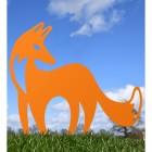 Contemporary Fox Silhouette in Orange