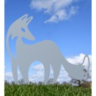 Silver Finish on Contemporary Fox Silhouette