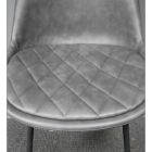 Close-up of the Quilted Leather Base of the Seat