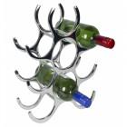Contemporary Polished Aluminium Wine Rack in Use holding wine Bottles