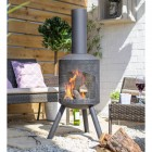 Contemporary Garden Fireplace in Situ in the Garden