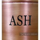 Close-up of the Wording on the Ash Bucket