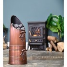 Copper Finish Traditional Coal Hod in Situ Next to the Fire Place