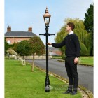 Copper Harrogate Lamp Post 2.25m Scale