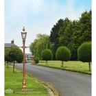 Copper Harrogate Lantern on Rose Gold finished cast iron lamp post