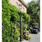 Copper Lincoln Swan Neck Lamp Post Set 2.46m