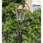 Copper Lincoln Swan Neck Lamp Post Set 3.4m