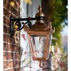 Copper Top Fixed Wall Lantern