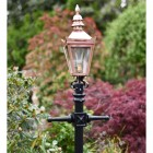 Copper Traditional Victorian Lantern on a Cast Iron Lamp Post