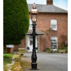 Miniature Copper Victorian Lam Post in Situ on a Drive Way
