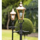 Copper Victorian Lamp post lantern detail