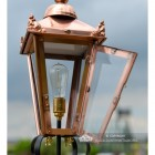Front Opening Door on the Copper Victorian Pillar Light and Lantern Set