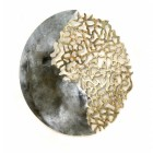 Coral Reef Circular Wall Art Finished in a Gold and Galvanised Finish