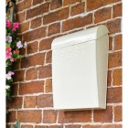 Cream Contemporary Post Box With Top Hinged Lid