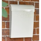 Cream Finish Modern Wall Mounted Parcel Box