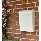 Cream Finish Modern Wall Mounted Post Box