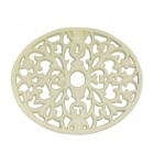 Solid Cast Metal Heavy Duty Trivet Finished In Cream