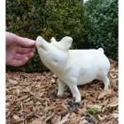 Cream Standing Pig Ornament