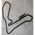 Croft Race Track Wall Art on a Rustic Grey Wall